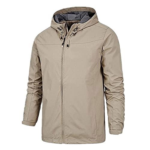 Chaqueta de senderismo con capucha suave al aire libre, resistente al viento, impermeable y cálida
