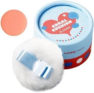 [THEFACESHOP] Lovely Meex Pastel Cushion Blusher 02, Long Lasting & Moisturizing Coral Cushion - 10g