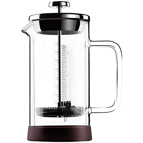 SongMyao Kaffeepressen Französisch Press Pot Hand gebrühter Kaffee Filter Cup-Filter for Home Office Filterpressekanne (Color : Clear, Size : 300ml)