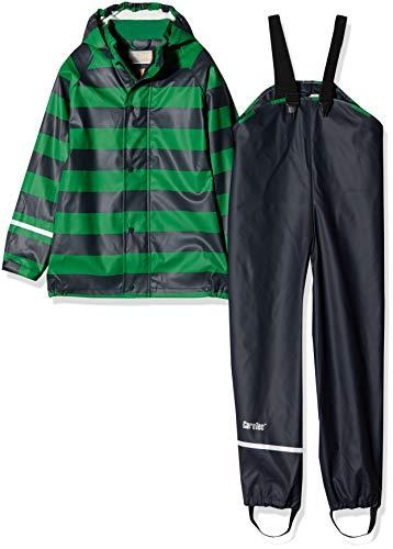 CareTec Kinder wasserdichte Regenlatzhose und -jacke im Set (verschiedene Farben) Mehrfarbig (Amazon 911), Herstellergröße: 98