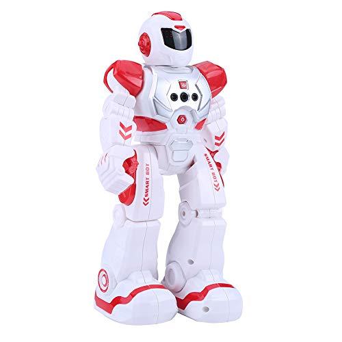 Nannday RC Robot Toy, Control Remoto Inteligente, Robot programable, detección interactiva de Gestos, Baile, Canto, robótica educativa Inteligente, Regalo de cumpleaños para niños(Rojo)