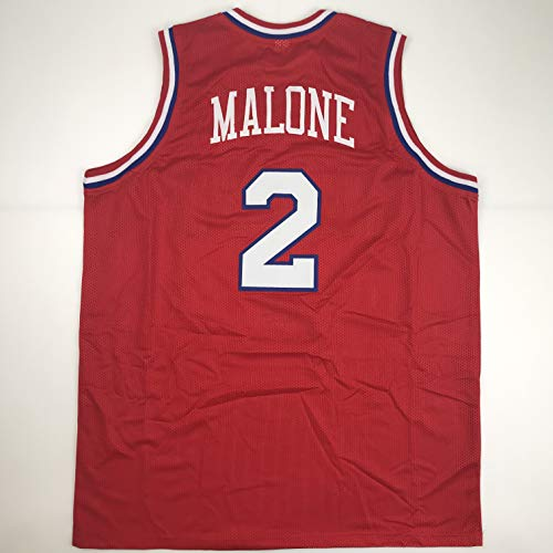 Unsigned Moses Malone Philadelphia Red Custom Stitched Basketball Jersey Size Men's XL New No Brands/Logos
