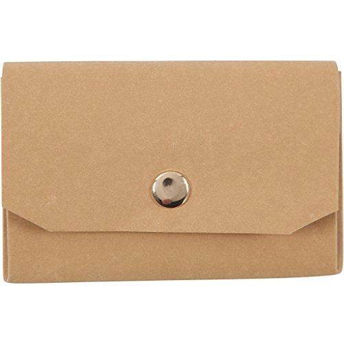 Kunstlederen portemonnee, L: 11 cm, H: 8, lichtbruin, 1 st