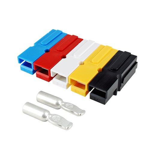 バッテリーコネクタ シングルタイプ 60A,8AWG, BMC1M-8-E 2セット入 <イエロー>