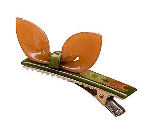 Lot de 2 Rabbit Ear Hair Pin Fashion Hair Clip/Hairpin, Brun / vert
