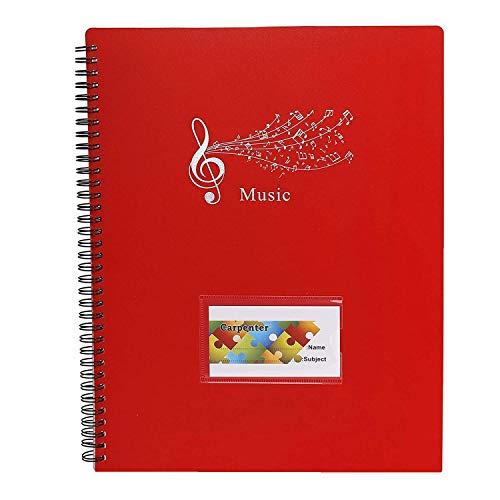 Notenmappe Musik Notizbuch A4 Größe 20 Taschen Song Datei Clef Paper Storage Documents Holder Bag Notenblattordner