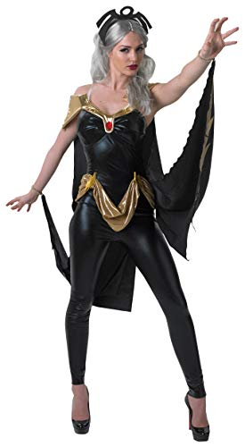 Secret Wishes Women's Marvel Universe Secret Wishes Storm Costume Cat Suit and Mask, Multicolor, Small