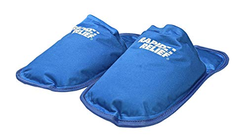 Rapid Relief Hot and Cold Therapy Slippers for Swollen and Painful Feet - Cooling Slippers for Neuropathy, Chemotherapy, and Diabetes Foot Pain Relief, Swollen Feet Remedy