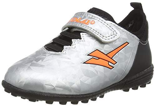 Gola Gola Alpha Vx Velcro Botas de fútbol Niños, Plateado (Silver/Black/Orange Jb), 24 EU