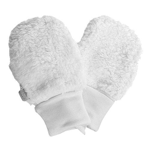 For you For you Fäustlinge Baby Winter Handschuhe Kunstpelz Mädchen Rosa Milchweiß aus Baumwolle-Futter (Elfenbein/Milchweiß, 62/68 3-10 Monate)