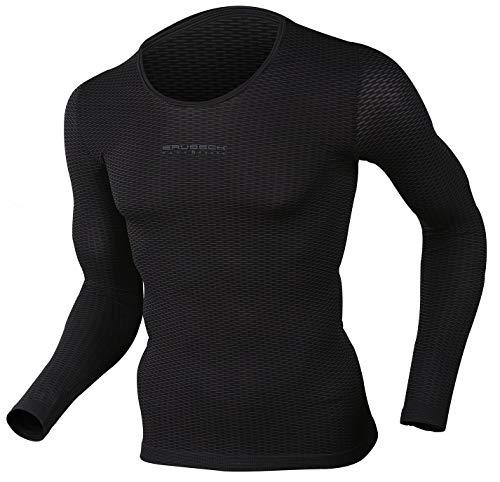BRUBECK T-shirt fonctionnel | femme | homme | manches courtes | manches longues | débardeur | fonctionnel | respirant | LS10850 | SS10540 | SL10100 – Tailles : LS10850 S/Black