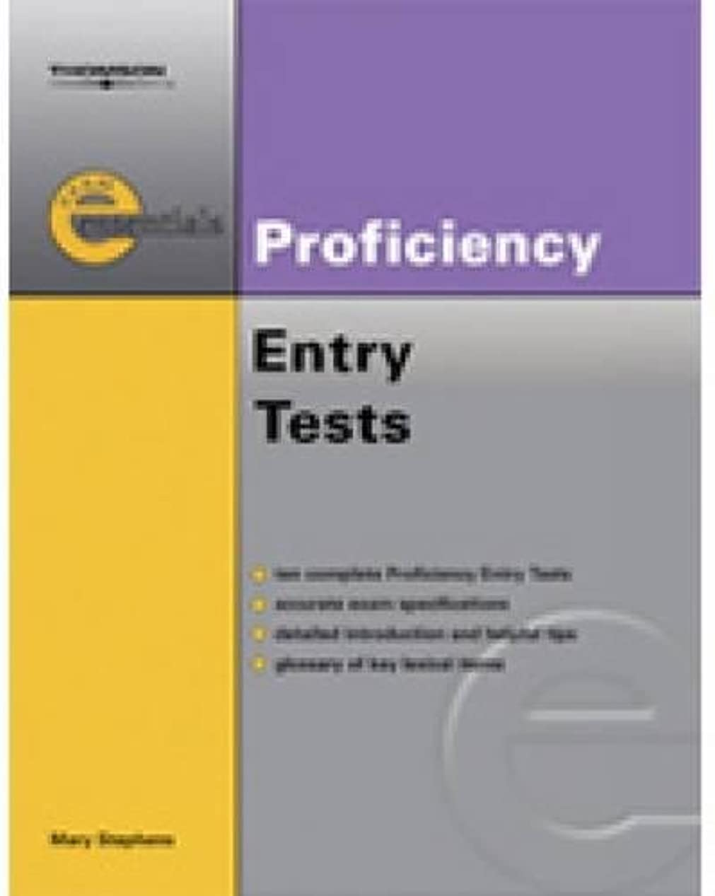 テレックスキャッチ教えるProficiency Entry Test: Cpe Entry Test (Thomson Exam Essentials)