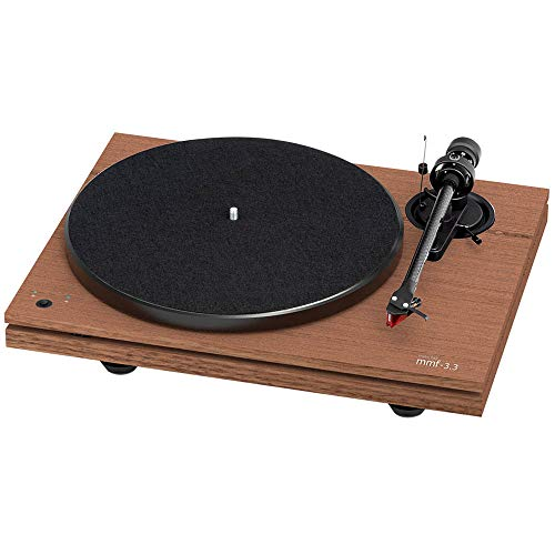 Music Hall MMF-3.3 Dual-Plinth Turntable with 2M Red Cartridge (Walnut)
