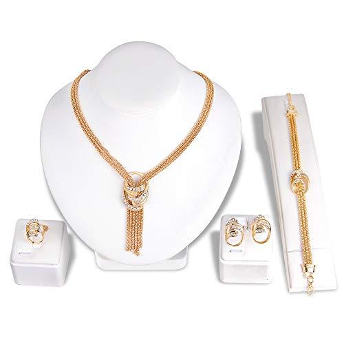 Ketting Hanger Oorbel Sieraden Pak Charmful Pretty Comfortably Vriendelijke Prijs As Shown goud
