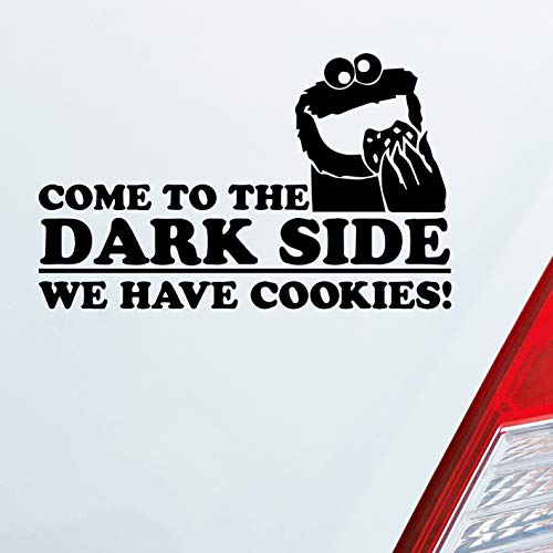Auto Aufkleber in deiner Wunschfarbe Come to The Dark Side We Have Cookies! Krümmelmonster für Seesamstraßen Fans 15x9,5 cm Sticker