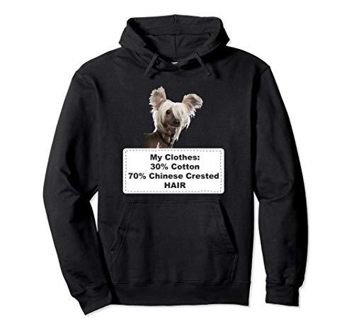 Funny Shedding Dog Chinese Crested Sudadera con Capucha