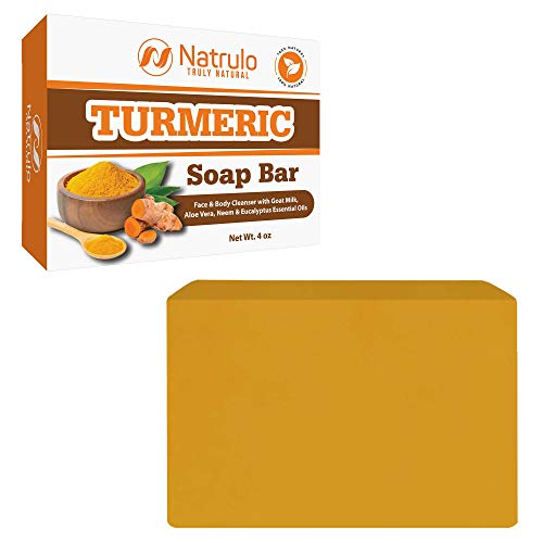 Turmeric Soap Bar for Face & Body - All Natural Turmeric Skin Soap Bar - Turmeric Face Soap Reduces Acne, Fades Scars & Cleanses Skin - 4 Oz Turmeric Bar Soap for All Skin Types Made in USA
