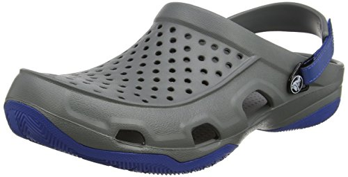 Crocs Swiftwater Deck Clog Men, Hombre Zueco, Gris (Slate Grey), 39-40 EU