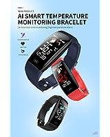 Sale - Smart Band Watch Bracelet Wristband Fitness Tracker Blood Pressure| Fitness Tracker for Body Temperature, Heart Rate | Bluetooth Push Alert Time Tracker IP67 | Waterproof Tracker for Women Men