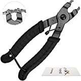 TAGVO Alicate de Cadena, Bike Chain Tool Cadena de Bicicleta Quick Link Open Close Tool 2 en 1 Alicates Abiertos y Cerrados, fácil de Usar Chain Remover Plier Portable para Road Mountain Bike