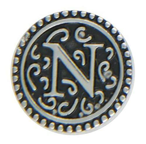 Ganz Jewel La La Snap Button for Jewelry, Initial N (ER33805)