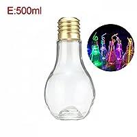 電球飲料MKYフルーツジュはMkをランプバルブボトルとホームショップのための蓋テラリウムでボトルを飲む:ランプと500ミリリットル