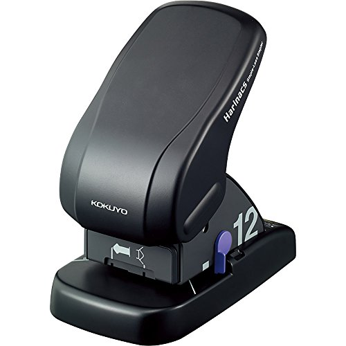 コクヨ ホッチキス 針なしステープラー ハリナックス 卓上タイプ 12枚とじ 黒 SLN-MS112D