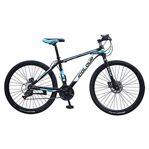pan hui Mountain Bike,26-Inch/Medium High-Tensile Steel Frame, 24-Speed, 26-inch Wheels High Carbon Steel Full Suspension Frame Folding Bicycles - ​​Gears Dual Disc Brakes Mountain Bicycle