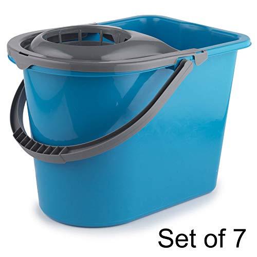 Beldray COMBO-5773 Secchio per mocio Grande, 14 Litri, Turchese, Confezione da 7, plastica