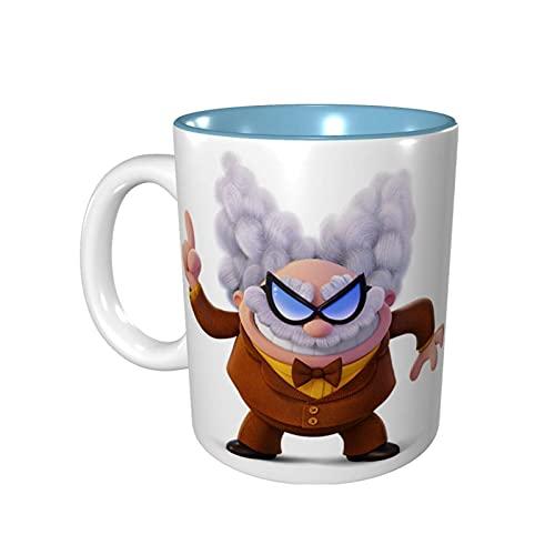 Hdadwy Taza de café divertida de 11 onzas Captain Under-Pants Taza de Melvin Taza de té Taza de té Apto para microondas Azul cielo