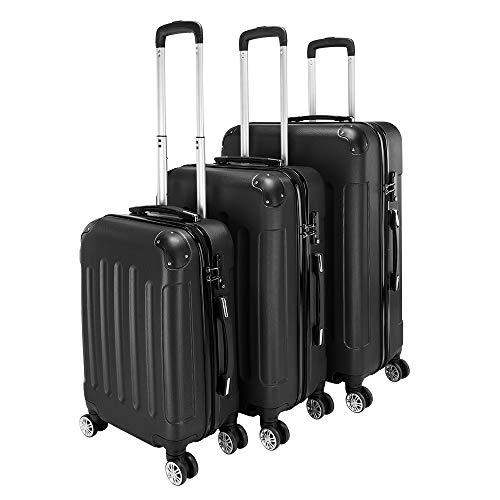 3 juegos de equipaje, 50,8 cm/24/28 pulgadas, conjuntos de equipaje para mujeres y hombres, maleta ligera expandible con carcasa rígida duradera de 4 ruedas TSA Lock Spinner