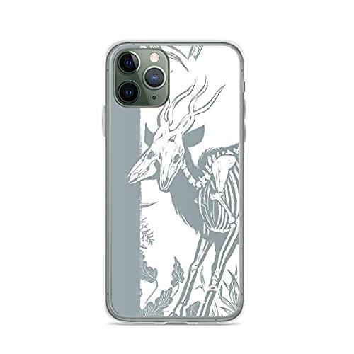Soporte de TPU para iPhone Samsung Xiaomi Redmi Note 10 Pro/Note 9/Poco M3 Pro/Note 8/Poco X3 Pro Funda Strange Biology Antelope Skeleton Cubierta de Las Cajas del teléfono Pure Clear