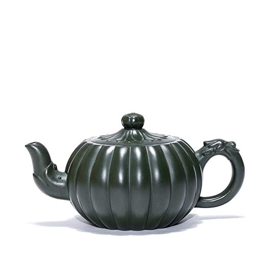 Tea Maker Pot Yixing Teapot Famous Rib Pattern Solanum Nigrum Republic Of China Famous Green Clay Tea Handmade CRTTRC Teapot (Color : Republic of China Green Mud)