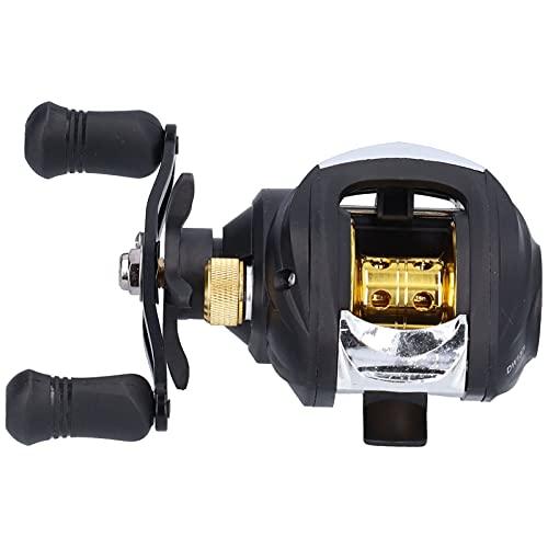 Gedourain Rueda de Pesca con Freno magnético, Carrete de Lanzamiento de Cebo Control de Perilla Ajustable Resistente al Desgaste y al Calor Freno magnético de 9 velocidades para Pescar