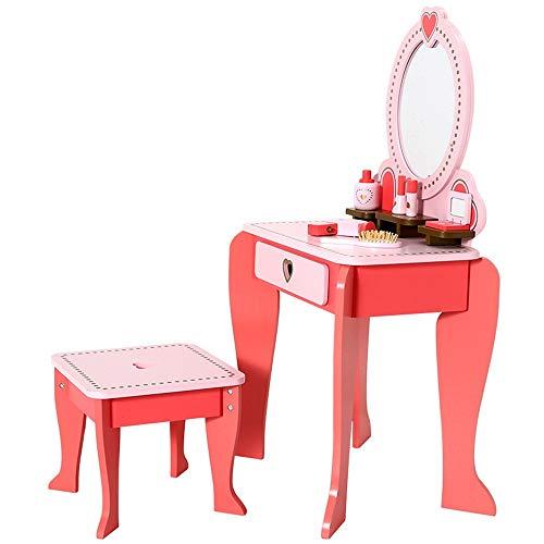 Ryyland-Home Schminktische für Kinder Simulation Dresser Prinzessin Mädchen-Baby-Klein Dresser Set Kinder Dresser Spielzeug (Color : Pink, Size : 92.5x33.5x49.7cm)