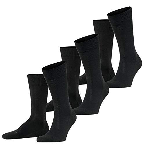 FALKE Herren Functional Socken London 3er Pack, Größe:43-46;Farbe:Black (3000)