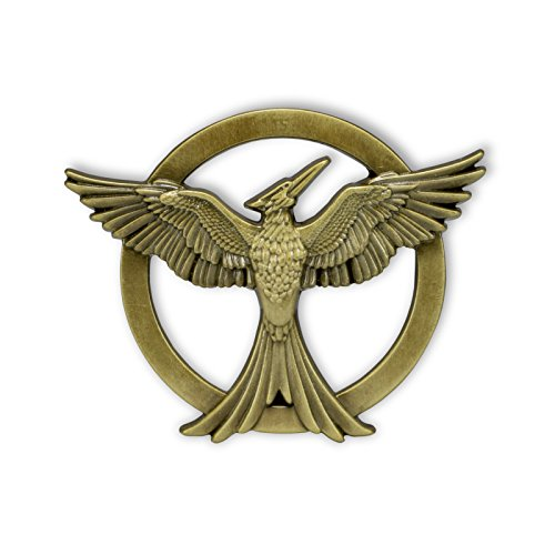Neca Tribute von Panem Mockingjay Spotttölpel Pin Anstecknadel aus Hunger Games lizenziert
