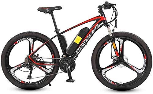 Bicicletta Elettrica, Mountain bici elettrica 26 In con 250W 36V batteria al litio con 27 velocità variabile di Sistema con doppio idraulico di assorbimento di scossa elettrica della bicicletta di car