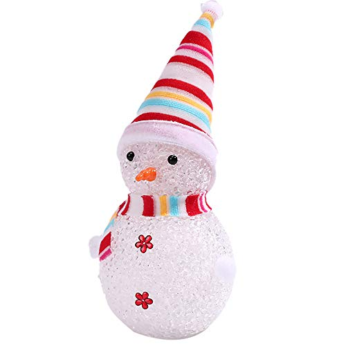 Renzhen Glowing Snowman LED Holiday Light - 3 Pieces Multicolor Changing LED Christmas Lamps Design Light up Decoration for Children Xmas Present Home Ornament Decor