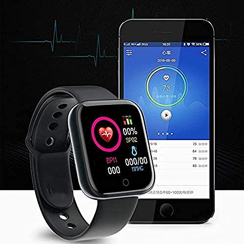 Reloj Inteligente Deportivo Hombres Smartwatch Monitor De Ritmo Cardíaco Presión Arterial Fitness Pulsera Y68 Reloj Inteligente-Negro