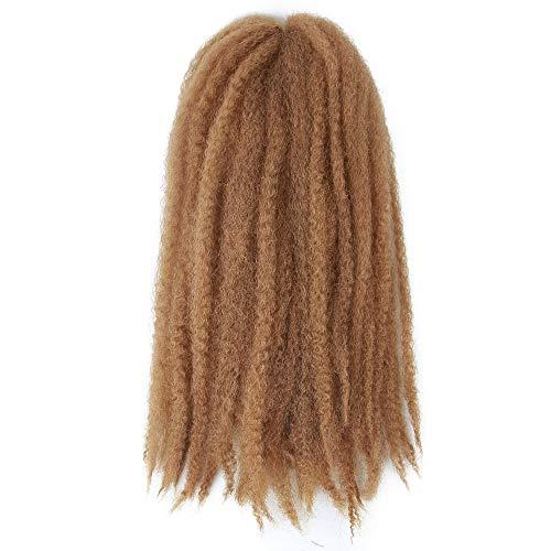 4 Packs Marley Hair Afro Kinky Curly Crochet Hair 18 Inch Long Marley Twist Braiding Hair Kanekalon Synthetic Marley Braids Hair Extensions for Women(27#)