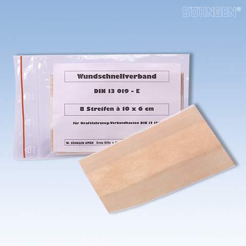 SÖHNGEN SÖHNGEN Ersatzfüllung Wundschnellverband, Inhalt: DIN 13019-E, 8 Streifen à 10 x 6 cm (1 Set)