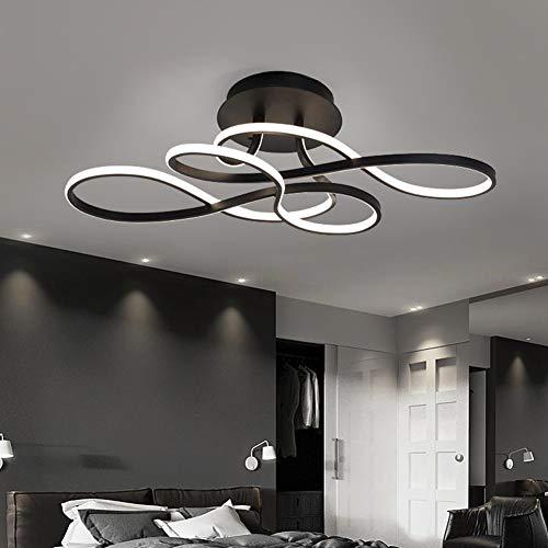 Designer Deckenleuchte LED Dimmbar 3000K-6500K mit Fernbedienung Lichtfarbe/Helligkeit Einstellbar Acryl-Schirm Wohnzimmerlampe Esszimmerlampe Schlafzimmerlampe Modernes LED Deckenlampe Flur Leuchten