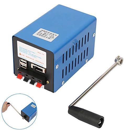 Generador de manivela, 2000 RPM 20W Generador de carga de alta potencia portátil con manivela Carga USB Dinamómetro de emergencia para comunicaciones de emergencia Electricidad
