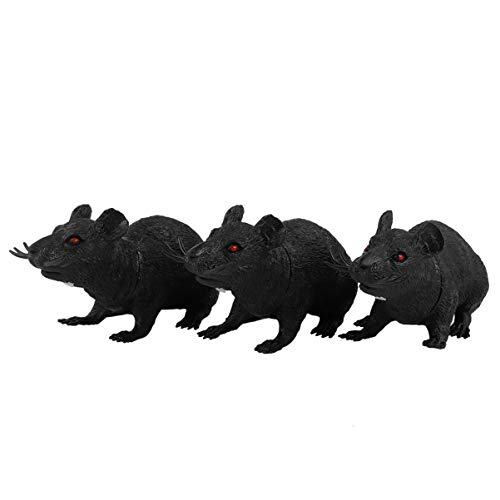 Scicalife 3pcs Fake Rat Simulation Mouse Tricky Mouse, Realistic Mouse Model, Halloween Tricks Pranks Props Toy Teasing Cat Toy Pet Supplies