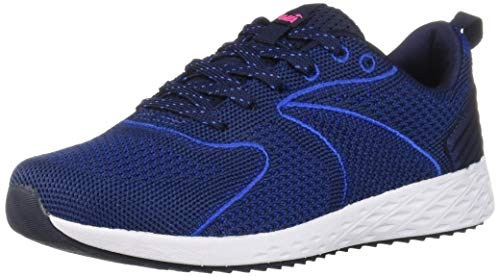 Avia Women's Avi-Waive Sneaker, Peacoat/Dazzling Blue/Pink Glow, 9 Medium US