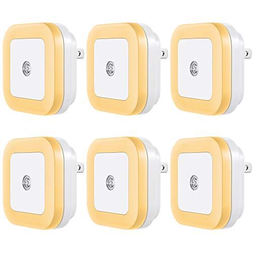 Vont LED Night Light Plugin 6 Pack Smart Dusk to Dawn Sensor Automatic Night Lights Suitable for Bedroom Bathroom ToiletStairsKitchenHallwayKidsAdultsCompact Nightlight Warm White
