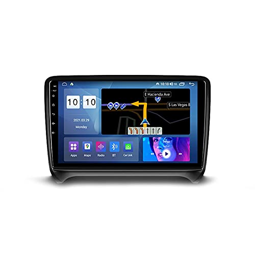 Android 10.0 Car Stereo Double DIN Radio para TT 2 8J 2006-2014 Navegación GPS Reproductor Multimedia de 9 '' Receptor de Video Bluetooth con 4G WiFi SWC DSP USB Carplay