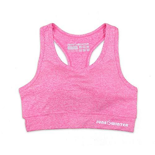 WSLCN Femme Soutien-Gorge Brassière de Sport sans Armature Lingerie Bralette Yoga Gym Fitness Musculation Course Rose XL