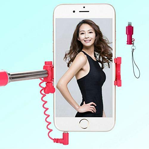 PDWSK Wired Selfie Stick Monopod para iPhone X 8 7 6 Plus...